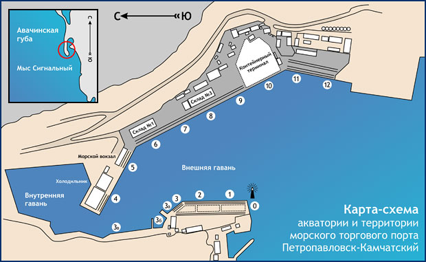 Морякам / Схемы акватории